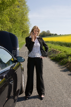 a woman using a cell phone