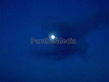 full moon in cloudy sky
