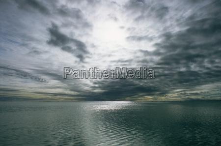 cloudy sky over the ocean