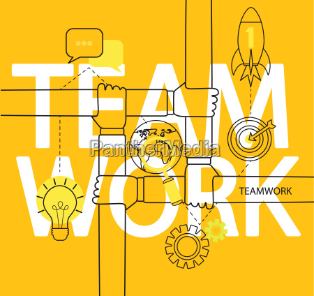infographic of teamwork concept