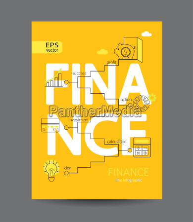 modern infographic of finance concept