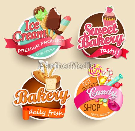 etiquetas do alimento e etiquetas