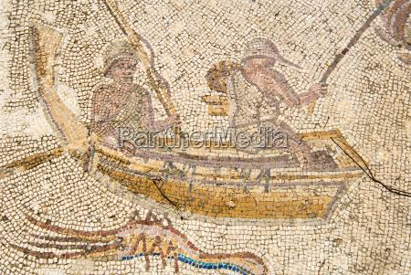 mosaico de pescadores utica punic e