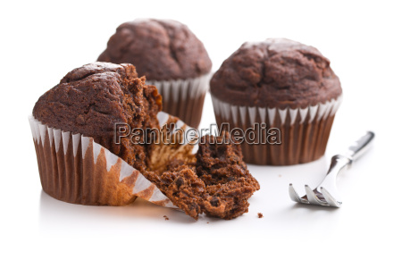 the tasty chocolate muffins