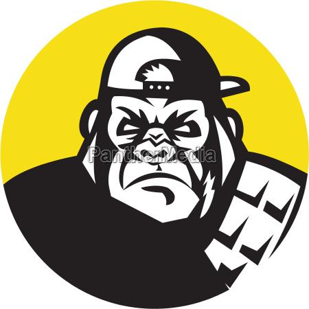 chapeu bone gorila capo furioso com