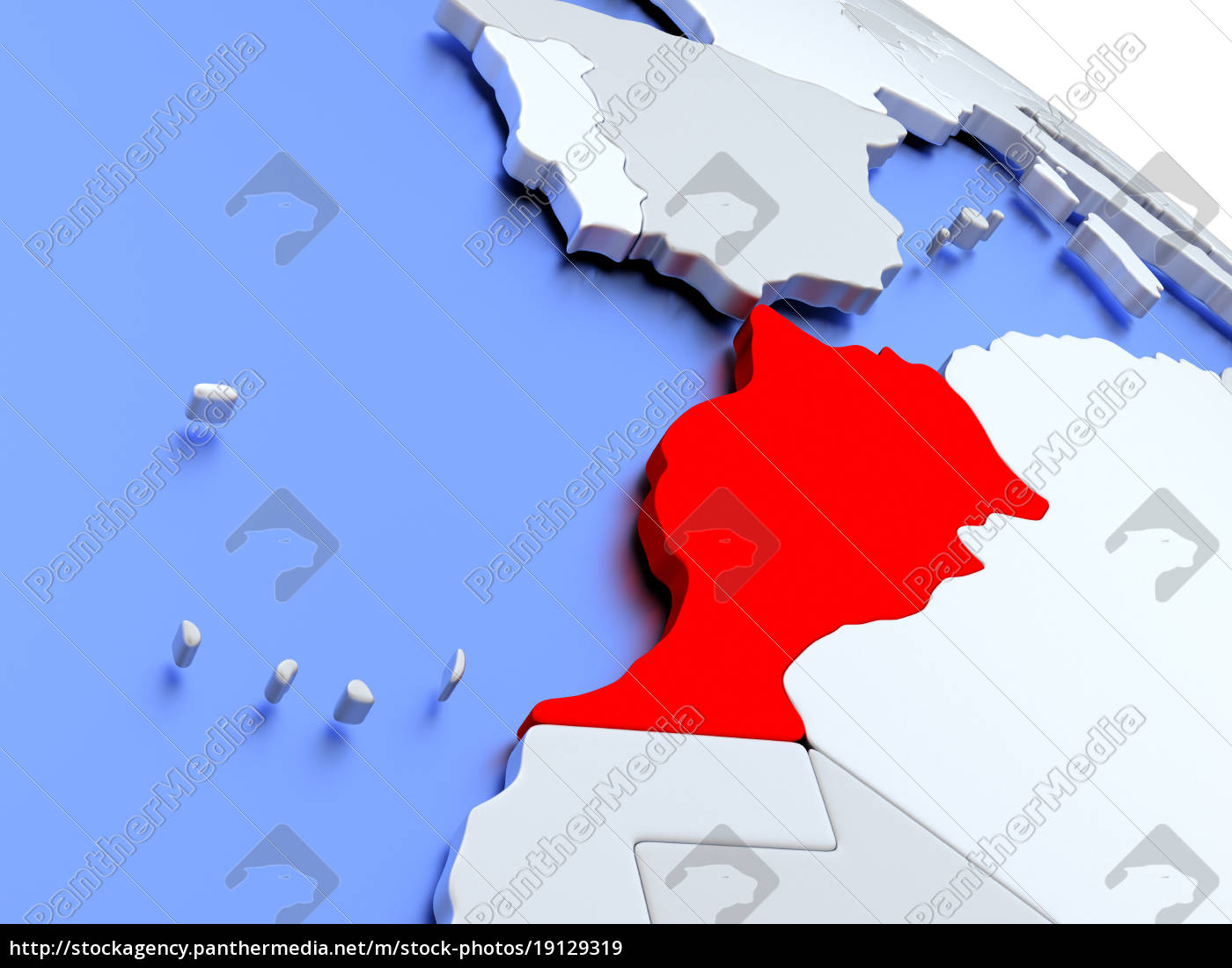 marrocos, no, mapa, do, mundo - 19129319