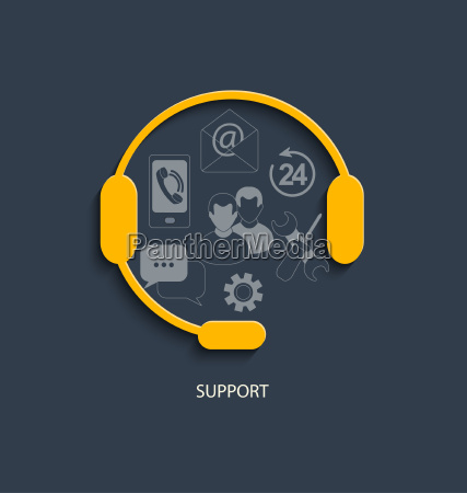 concept for customer support service