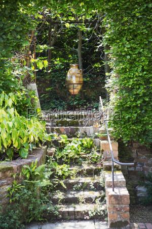 jardim verao cascalho inglaterra fotografia foto