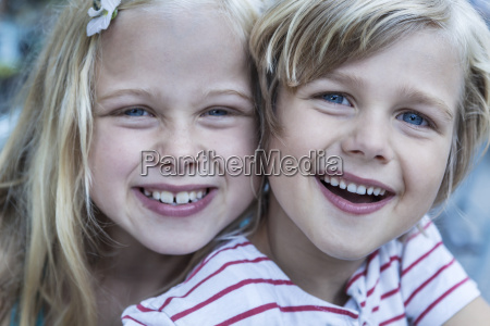 portrait of smiling little boy and
