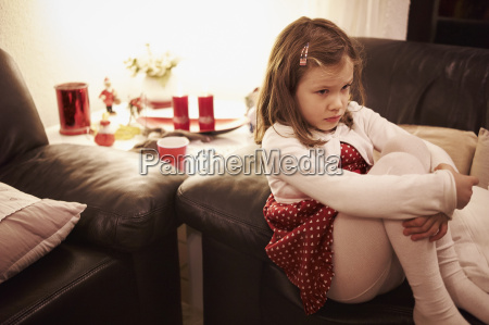 6 year old girl sitting on