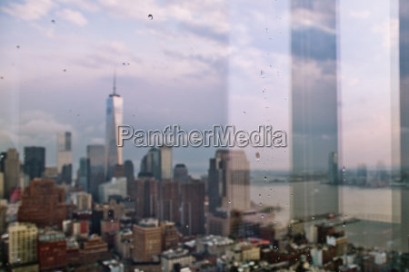 window view of one world trade