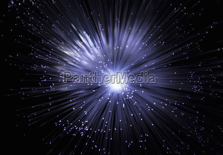 studio shot of fibre optic light