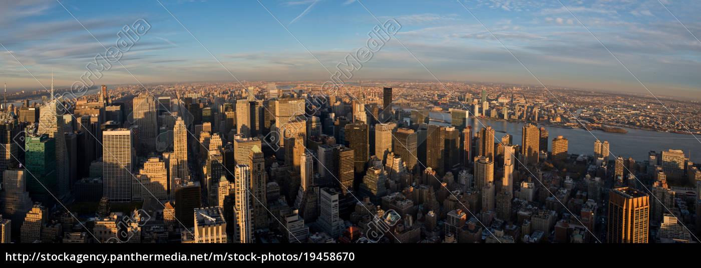 vista, panorâmico, do, empire, state, building, manhattan, new - 19458670