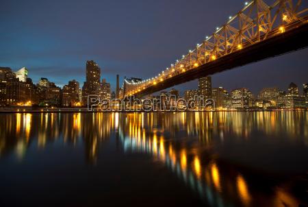 ed koch queensboro bridge at twilight