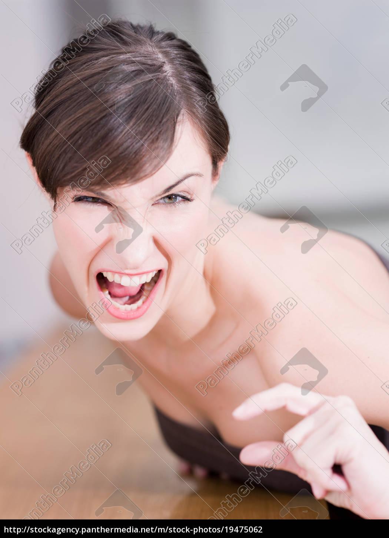 mulher, fazendo, um, gesto - 19475062