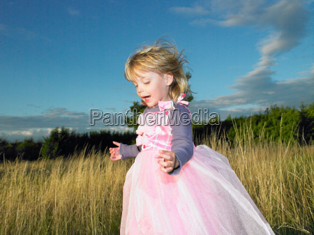 girl with princess dress in