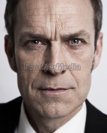 close up of businessmans face