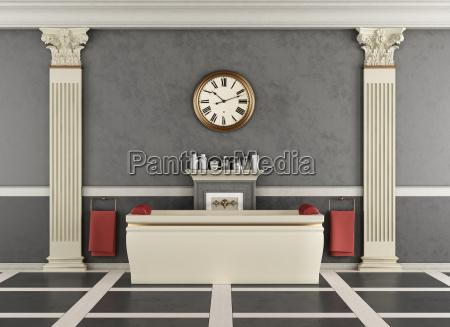 banheiro, de, luxo, com, banheira - 19672759