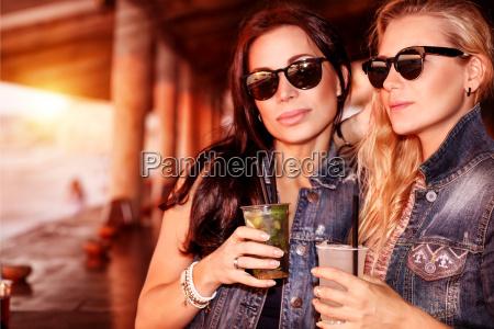 two gorgeous women