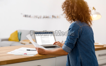 businesswoman working at the office
