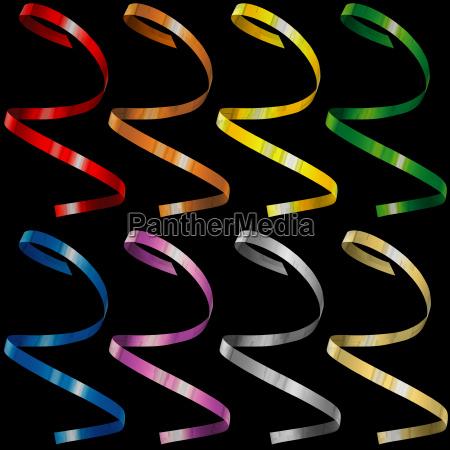 confete curly colorido