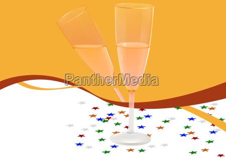 partido celebracao champanhe ano novo pano