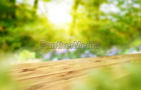 wooden desk or wooden floor on