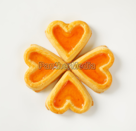 heart-shaped, cookies, with, jam - 20499113