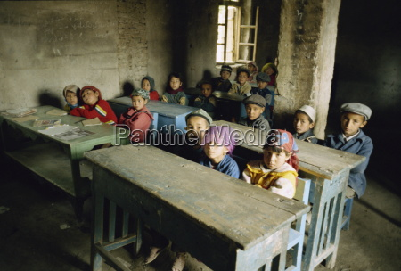 uyghur school minfeng xinjiang china asia