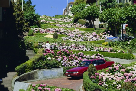 driving down lombard street the crookedest