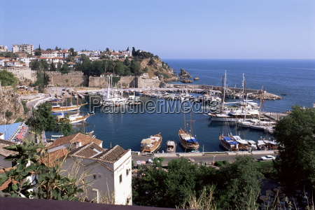 the harbour antalya anatolia turkey asia