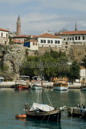 the old harbour antalya anatolia turkey