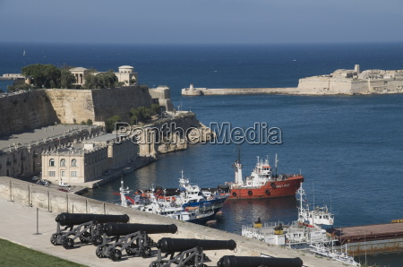 view of the grand harbour from
