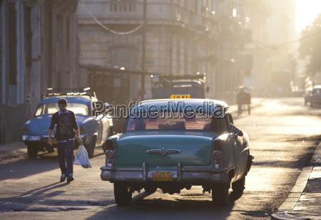 taxi americano do carro do vintage