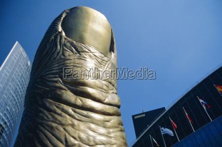 azul close up cor moderno estatua