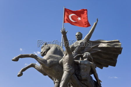 ataturk statue in the old town
