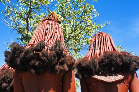 penteado de mulheres de himba kaokoveld