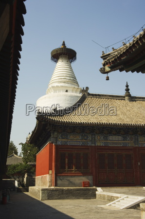 miaoying white dagoba temple dating from