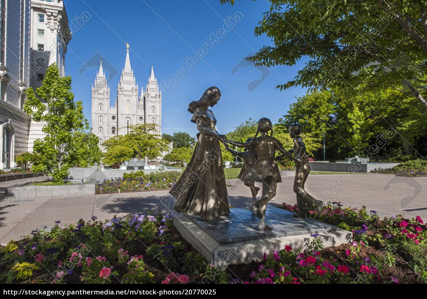 estátua, alegre, do, momento, quadrado, do, templo, salt - 20770025