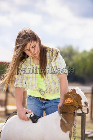 usa texas young girl trimming