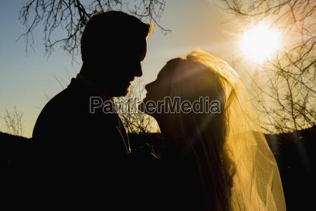 usa texas young wedding couple looking