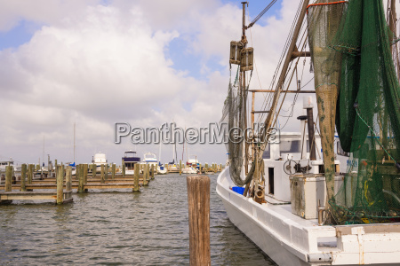 usa texas view of fishing boat