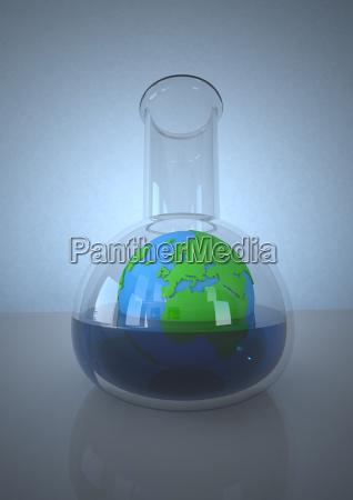 ambiente ciencia pesquisa ilustracao vista quimica