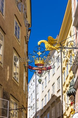 Austria salzburg sinal de um restaurante