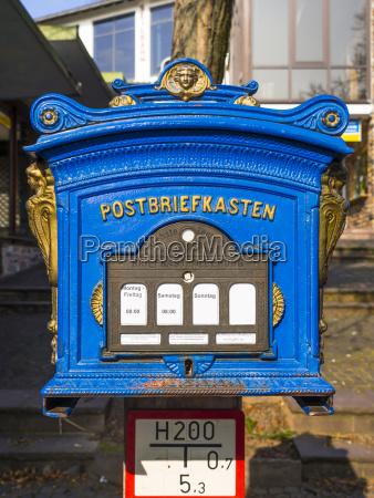 alemanha hesse ruedesheim caixa postal azul