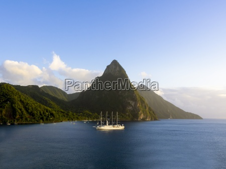 caribbean st lucia sailing cruise ship