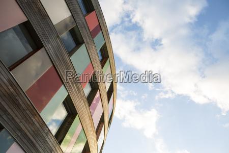cor moderno janela madeira nuvem reflexao