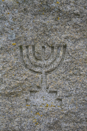 simbolo dos israelitas cinzelados no granito