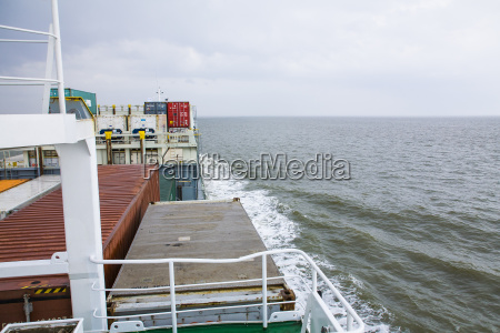germany hamburg container ship at north