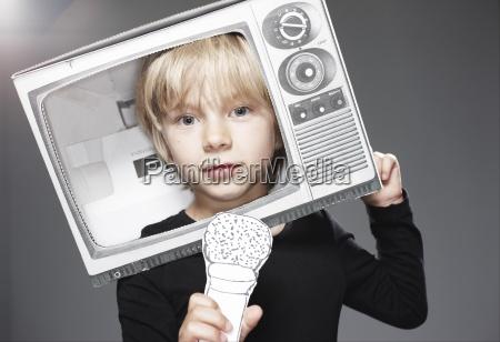 retrato, da, cabeça, do, menino, na - 21063771